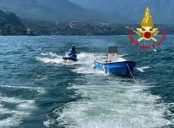 barca deriva lago maggiore