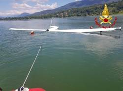 caduta aliante lago di varese luglio 2020