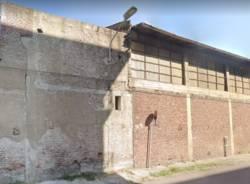 capannone pericolante via Macallé Legnano