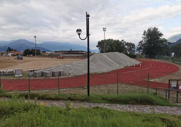 Maccagno con Pino e Veddasca - Maccagno, il nuovo campo di calcio prende forma - - Varese News