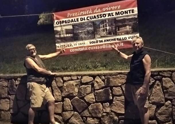 Cuasso al Monte - Striscioni per l'ospedale