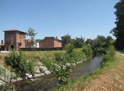 Il fiume Olona scorre intorno al Castello di Legnano