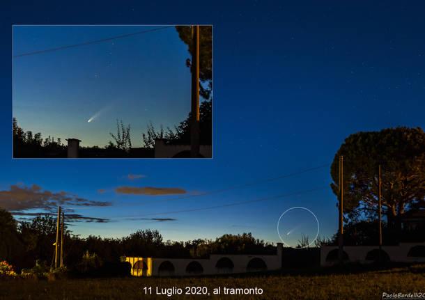 immagini cometa neowise . foto del GAT