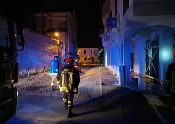 Incendio in stabile abbandonato a Sant'Antonino