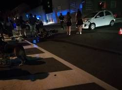 incidente auto moto busto arsizio via magenta