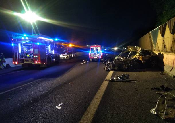 Incidente mortale in A8 a Legnano