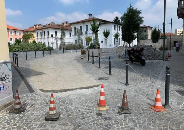 lavori piazza vittorio emanuele busto arsizio