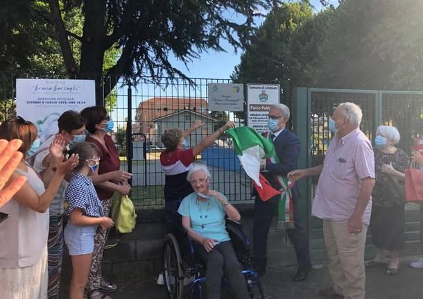 Limbiate: inaugurato il primo parco inclusivo, intitolato alla volontaria Bruna Barzaghi