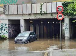 Maltempo tra Gallarate e Castellanza