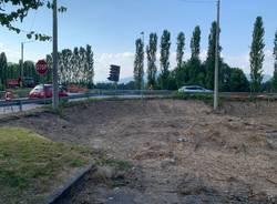 Nuova rotonda Galliate Lombardo