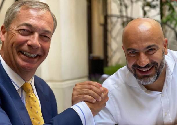 Paragone stringe la mano a Farage e si prepara a lanciare il nuovo ...