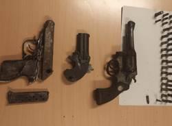 pistole proiettili ritrovati bosco samarate