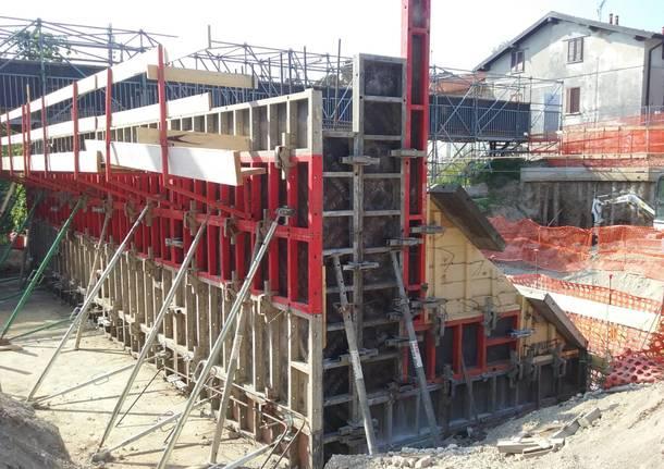 ponte di via Giordani a Varese: lavori in corso