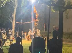 Sant'Eusebio, l'incendio del pallone rituale