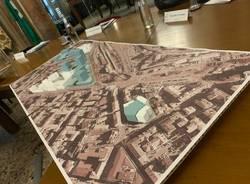 Un plastico per presentare il masterplan in consiglio comunale