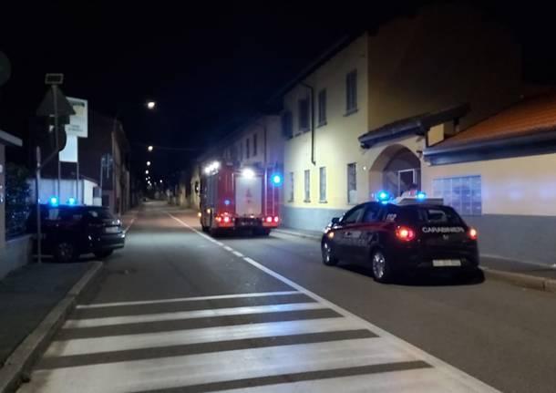 Vigili del Fuoco di notte a Parabiago