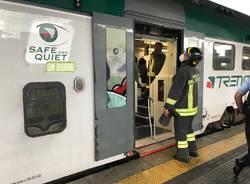 vigili del fuoco treno gallarate