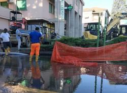 Cantiere legnano perdita di acqua 5 agosto