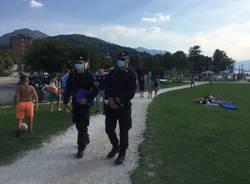 Carabinieri controllano il Lago Maggiore