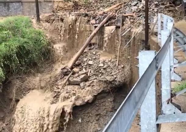 Maccagno, le foto delle zone alluvionate