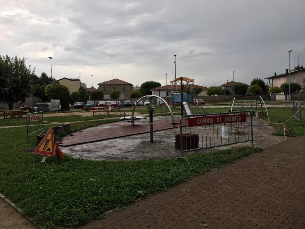 Dairago, i bimbi ridisegnano il parco di piazza Francesco della Croce