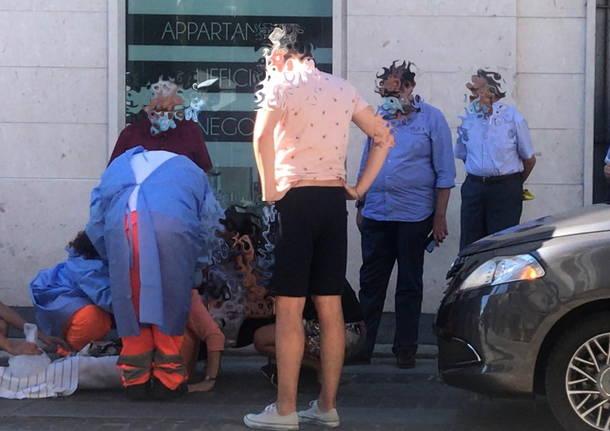 donna investita in corso Italia a Legnano 4 agosto