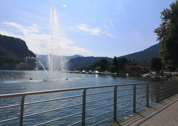 Il nuovo lungolago di Lavena Ponte Tresa