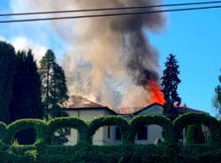 incendio tetto bodio lomnago