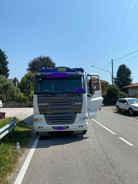 Incidente tra camion a Olginate di Besozzo