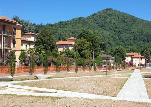 Induno Olona - I lavori per il completamento del parco urbano nella zona della stazione