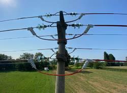 Isolata la linea elettrica Parco dei Mulini