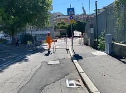 Lavori Enel in via Maspero, in via milano non si gira a destra verso Giubiano