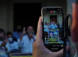 le prime immagini di Salvini a Saronno