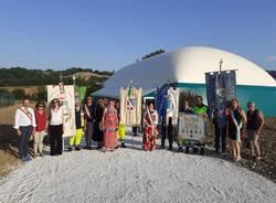 Nelle Marche una struttura geodetica grazie a donazioni di cittadini della Bassa Comasca