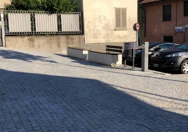 La nuova piazza San Sebastiano e piazza Matteotti di Coarezza