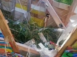 """Rescaldina, vandalizzata la """"Barca dell'Accoglienza"""""""