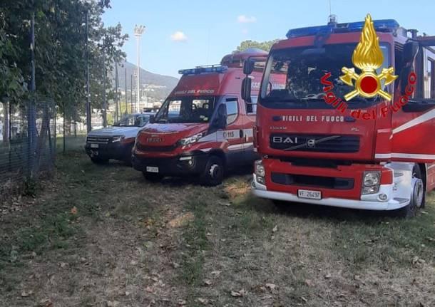 Le ricerche della bambina dispersa nel lago a Germignaga