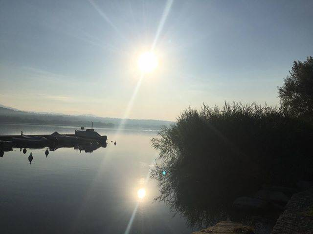 riflessi sul lago a Bodio - foto di Doriana Piva