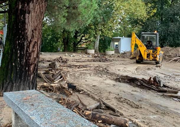 Alluvione, la situazione a Luvinate venerdì mattina