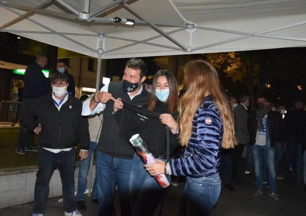 Ballottaggio a Legnano, Salvini in piazza San Magno per Carolina Toia