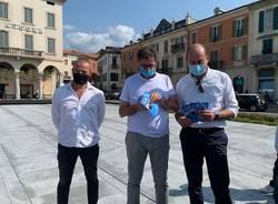 Giancarlo Giorgetti a Luino per sostenere Casali