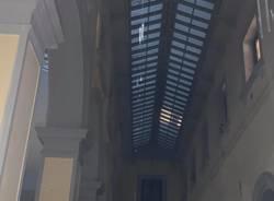 Maxi temporale su Luino, stazione allagata
