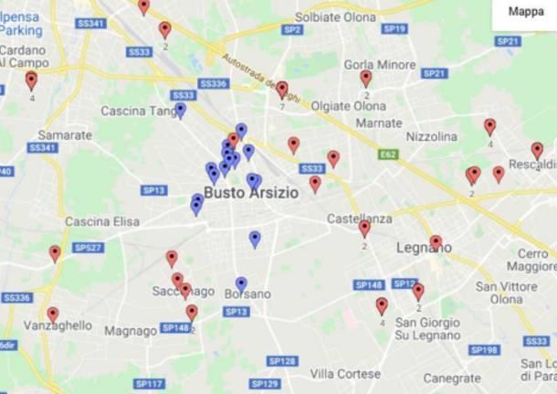 cartina indagine legionella agosto 2020