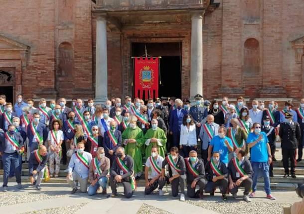 Codogno - I sindaci di Porto Ceresio, Besano e Caravate al raduno dei sindaci