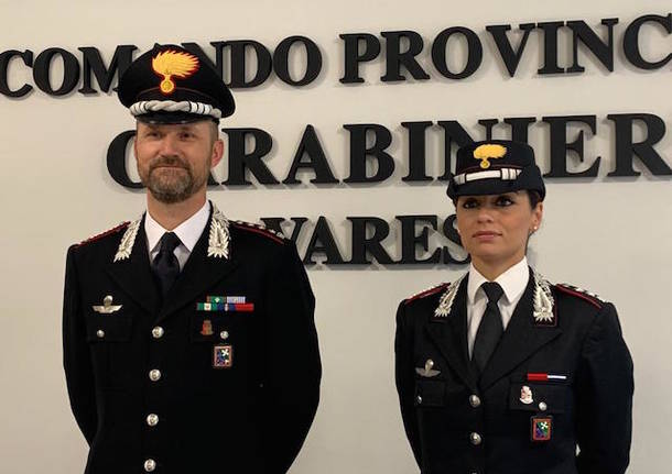 colonnello gianluca piasentin carabinieri varese capitano annamaria putortì