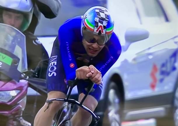 Ciclismo, storico Ganna: vince il titolo mondiale nella cronometro
