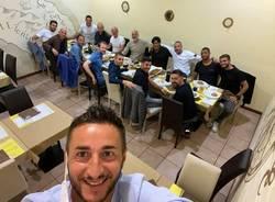 Lo staff del Milan a La Paranza
