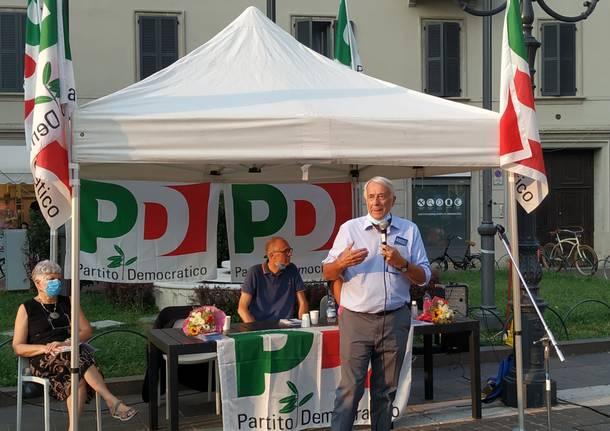 Giuliano Pisapia a Saronno per sostenere Augusto Airoldi