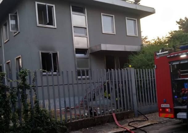 incendio ex calzaturificio Parabiago