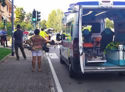 Incidente auto moto a Caronno Pertusella foto di Francesco Miseo